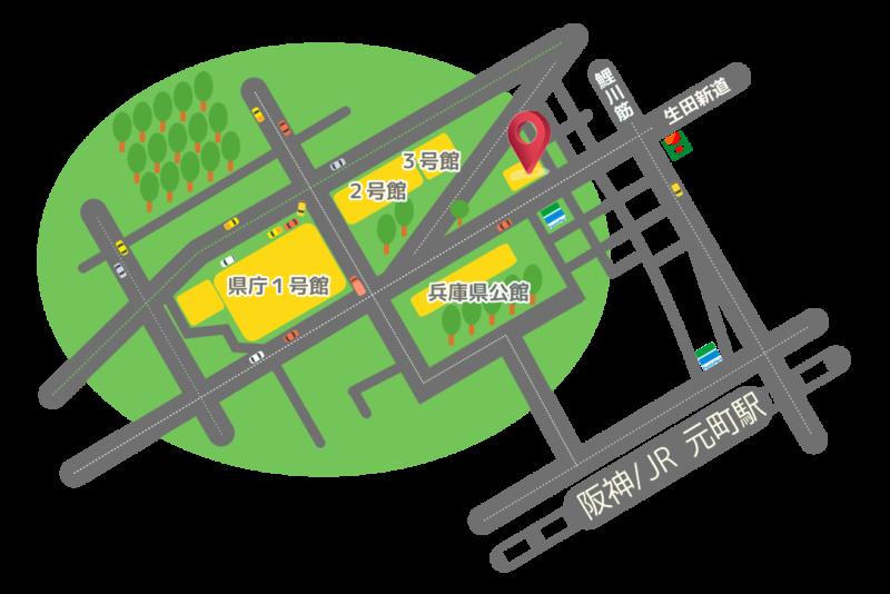 県民会館への地図